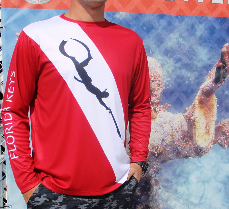 Men's Cool Dry Shirt (Dive Flag; Spear Hunter)