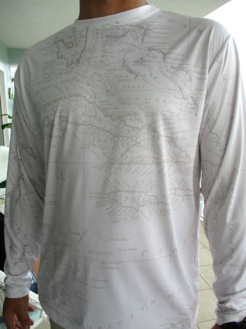Men's Cool Dry Shirt (Pirate Caribbean Map)