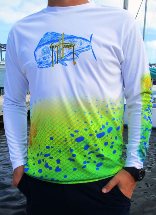 Guy Harvey Men's Cool Dry Shirt (Mahi Mahi)