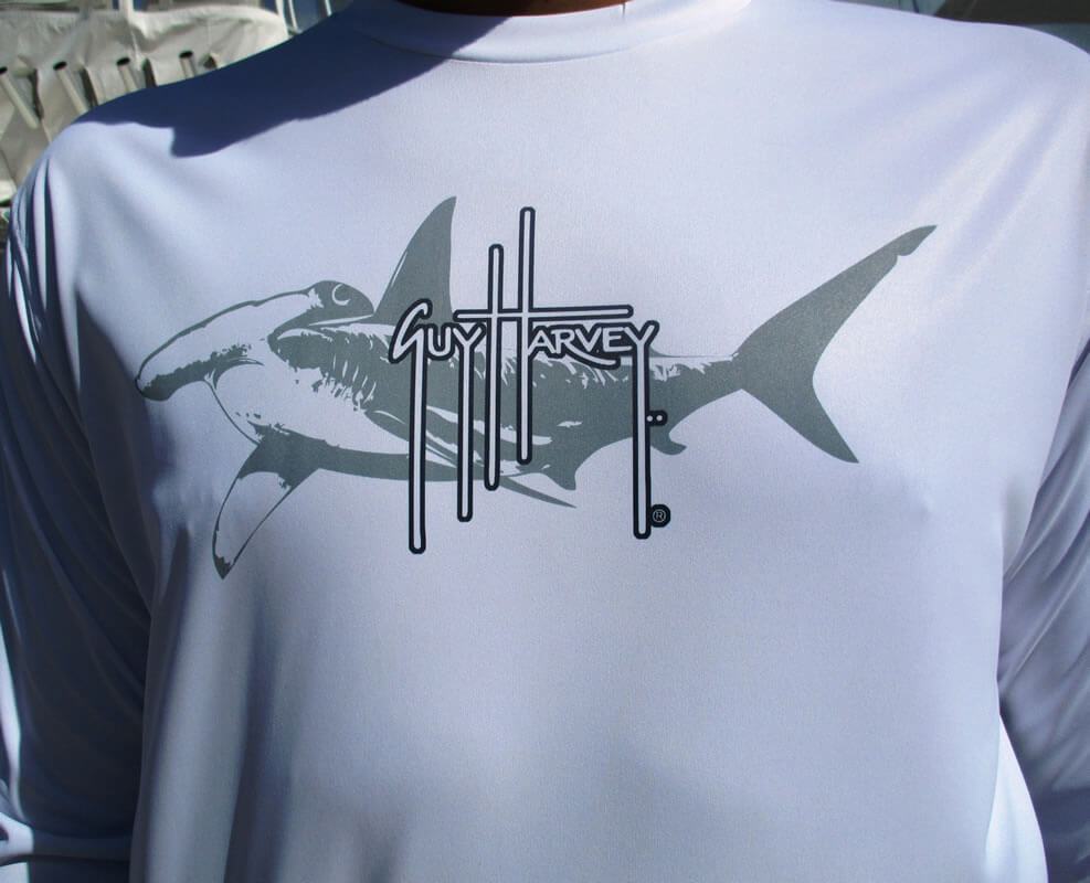 Guy Harvey Men's Cool Dry Shirt (Hammerhead)
